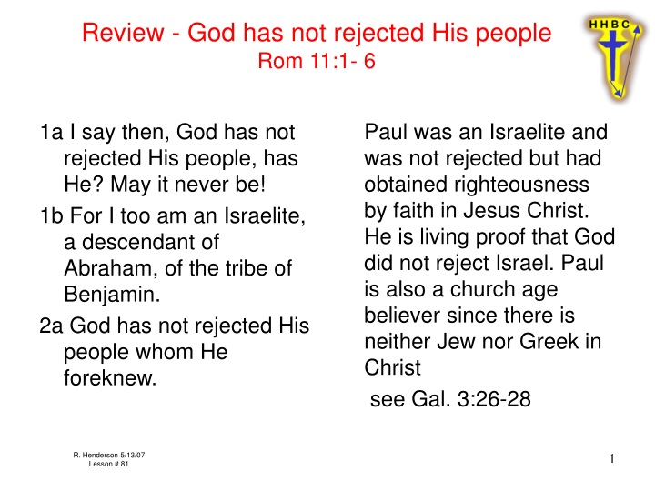 review god has not rejected his people rom 11 1 6 n.