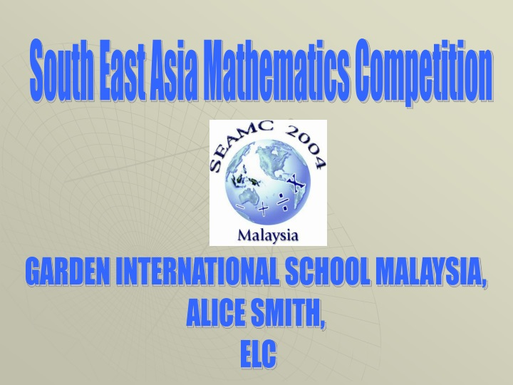 south east asia mathematics competition n.