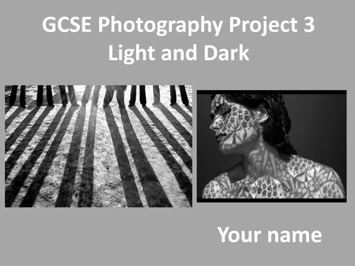 gcse photography project 3 light and dark n.