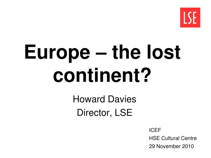 europe the lost continent n.