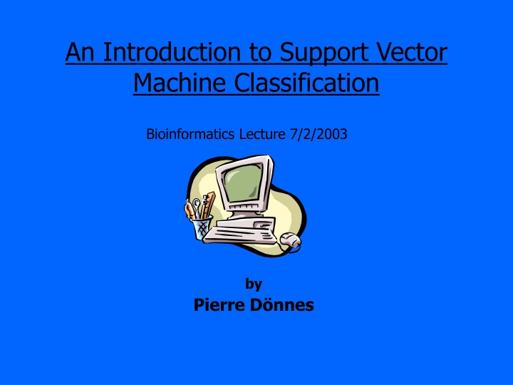 an introduction to support vector machine classification n.
