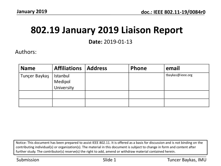 802 19 january 2019 liaison report n.