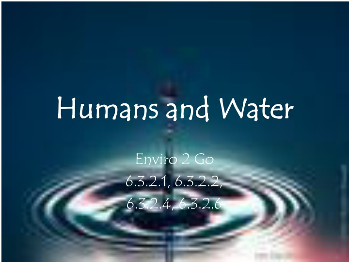 humans and water n.