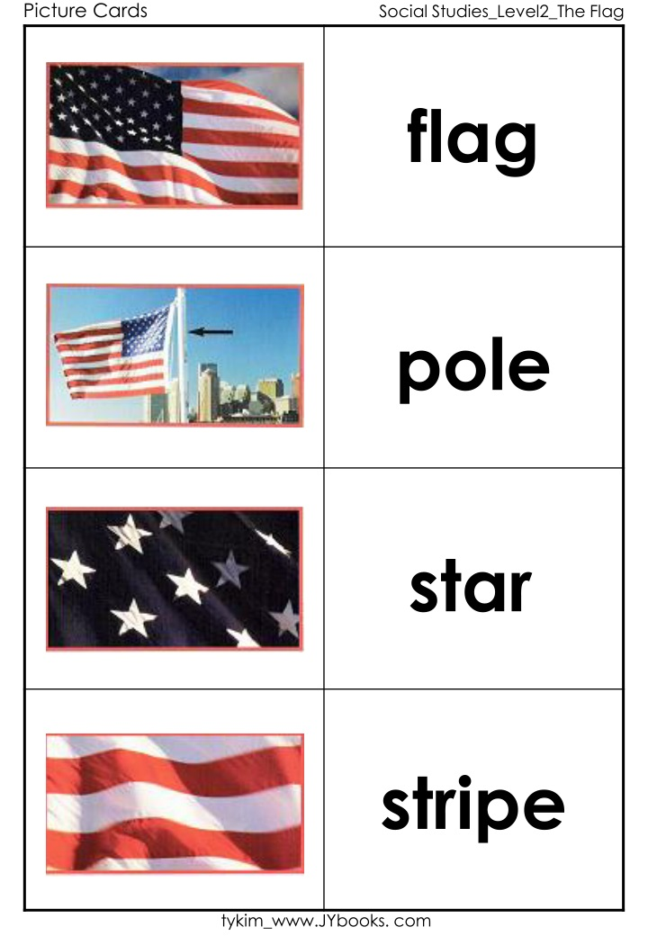 picture cards social studies level2 the flag n.