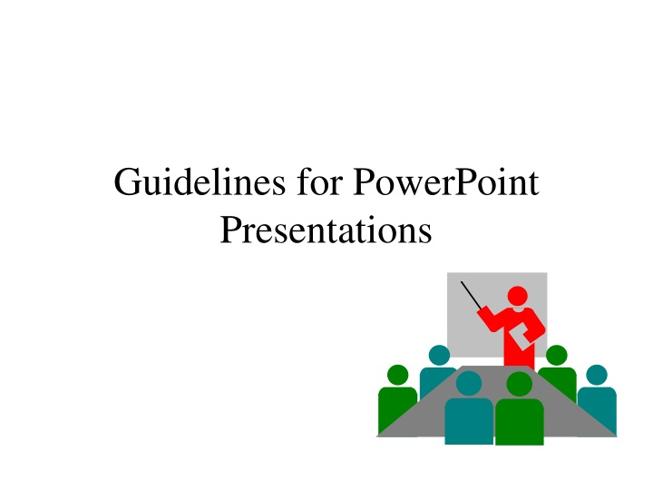 guidelines for powerpoint presentations n.