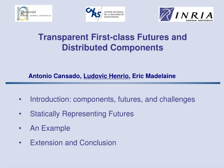transparent first class futures and distributed components n.