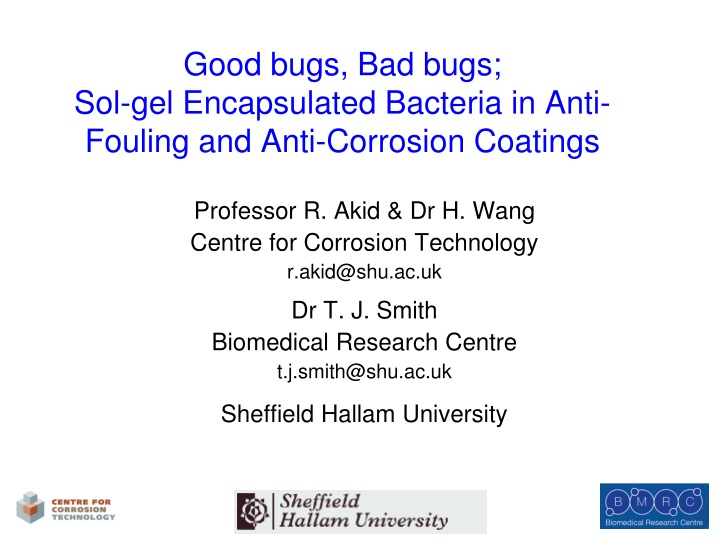 good bugs bad bugs sol gel encapsulated bacteria in anti fouling and anti corrosion coatings n.