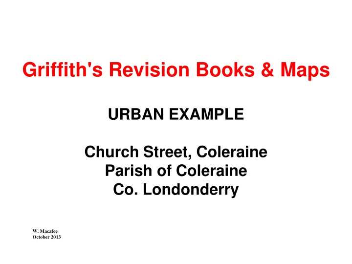 griffith s revision books maps urban example n.