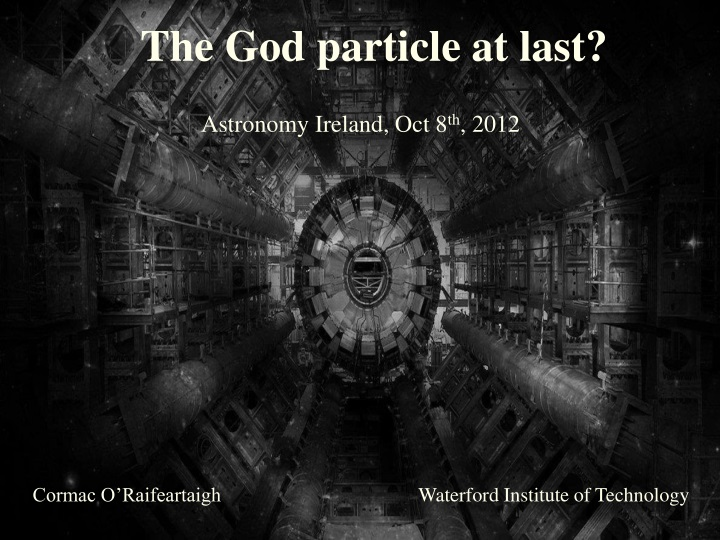 the god particle at last n.