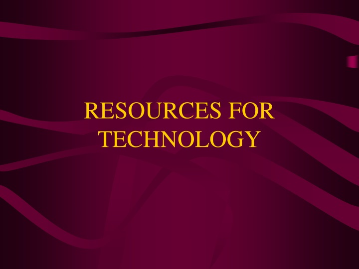 resources for technology n.