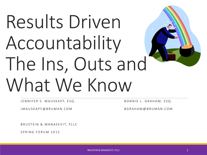 results driven accountability the ins outs and what we know n.