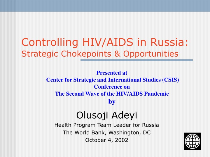 controlling hiv aids in russia strategic chokepoints opportunities n.