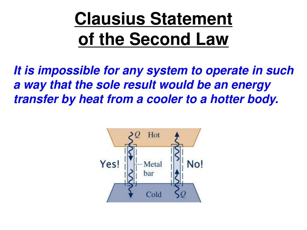 PPT - Second Law of Thermodynamics Alternative Statements ...