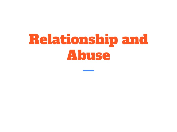 relationship and abuse n.