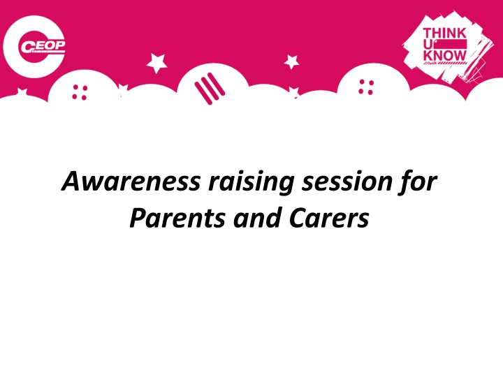 awareness raising session for parents and carers n.