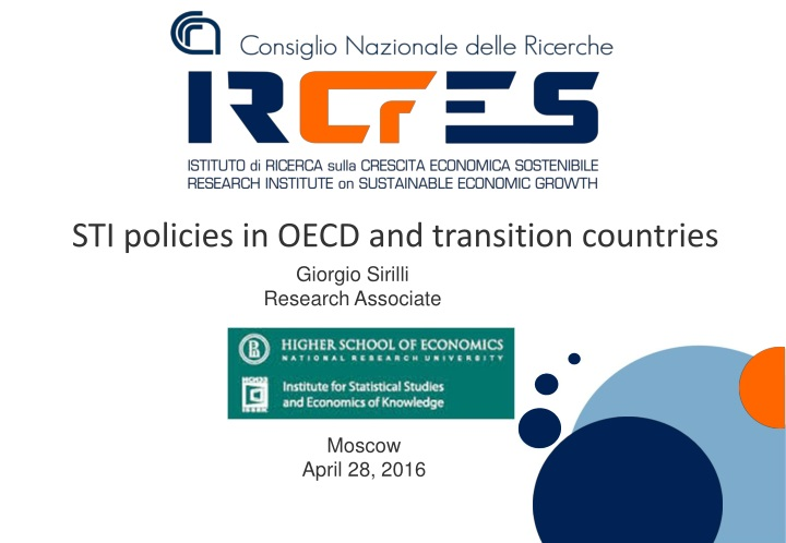 sti policies in oecd and transition countries n.