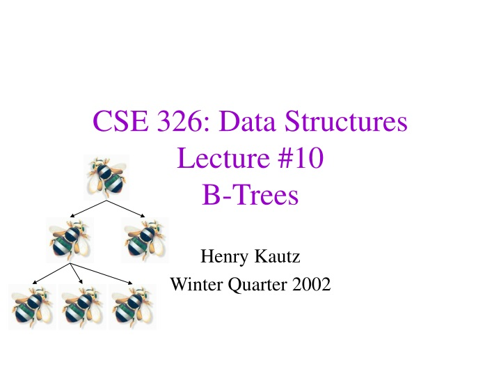 cse 326 data structures lecture 10 b trees n.