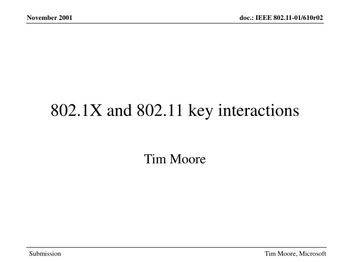 802 1x and 802 11 key interactions n.