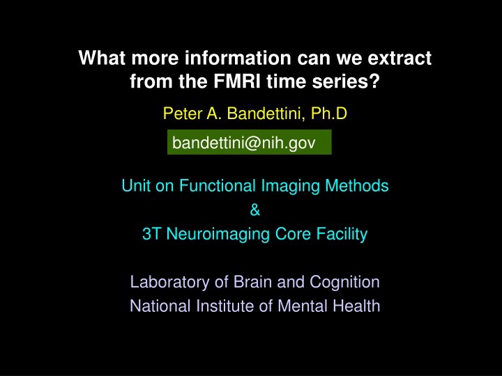 what more information can we extract from the fmri time series n.