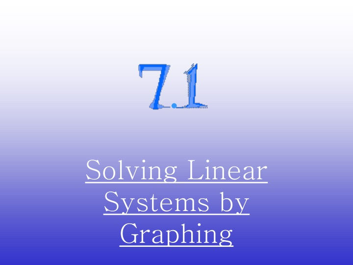 solving linear systems by graphing n.