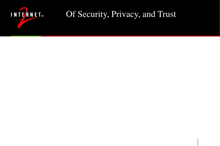 of security privacy and trust n.