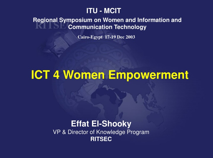 regional symposium on women and information and communication technology n.