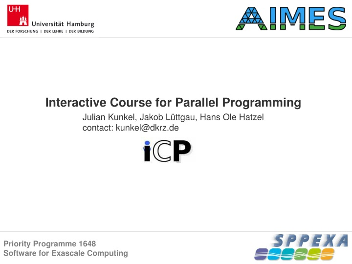 interactive course for parallel programming n.