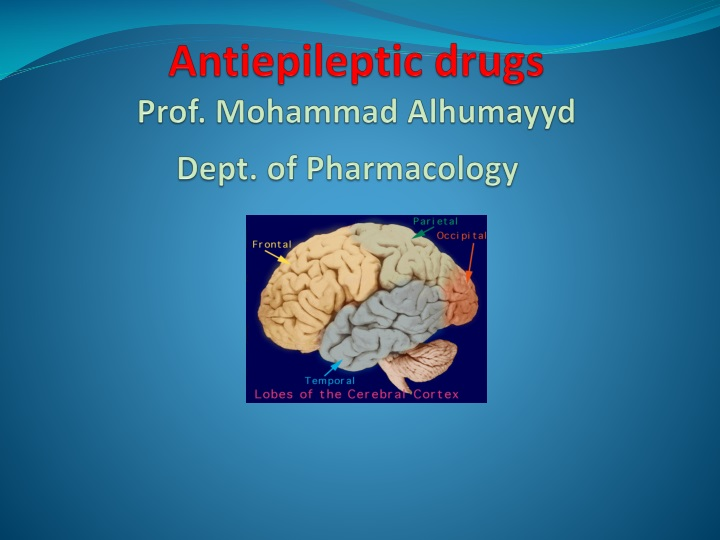 antiepileptic drugs prof mohammad alhumayyd dept of pharmacology n.