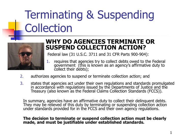 terminating suspending collection n.