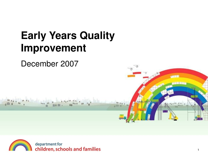 early years quality improvement n.