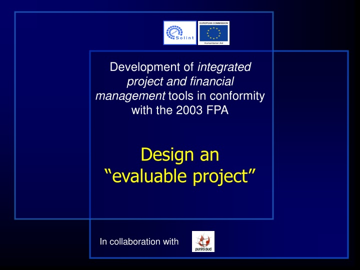 development of integrated project and financial n.