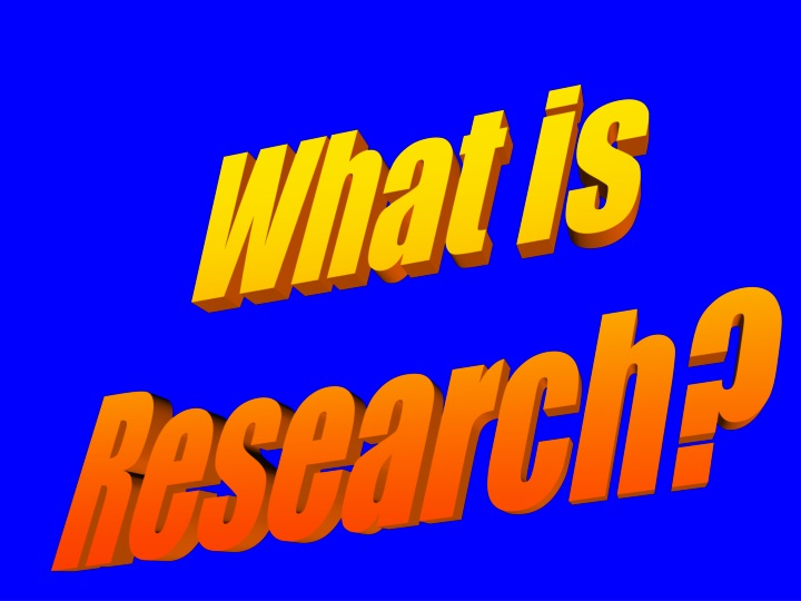 what is research n.
