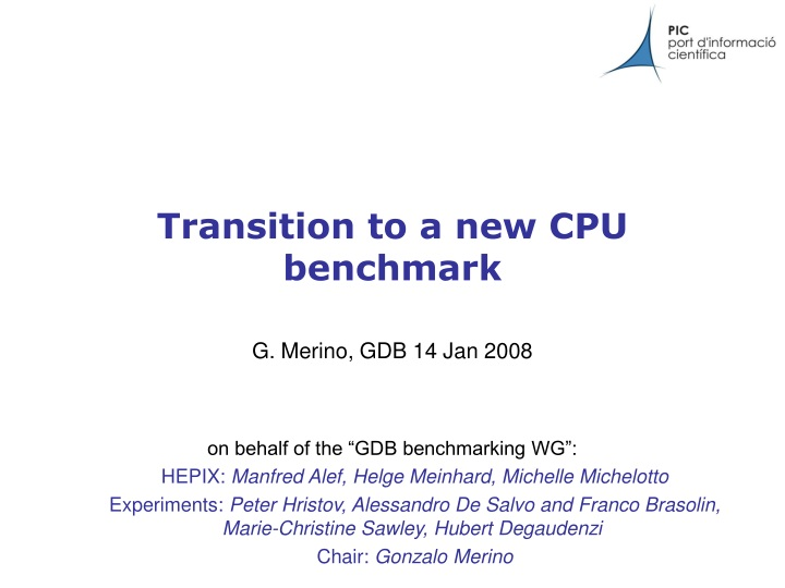 transition to a new cpu benchmark n.