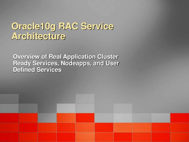 oracle10g rac service architecture n.