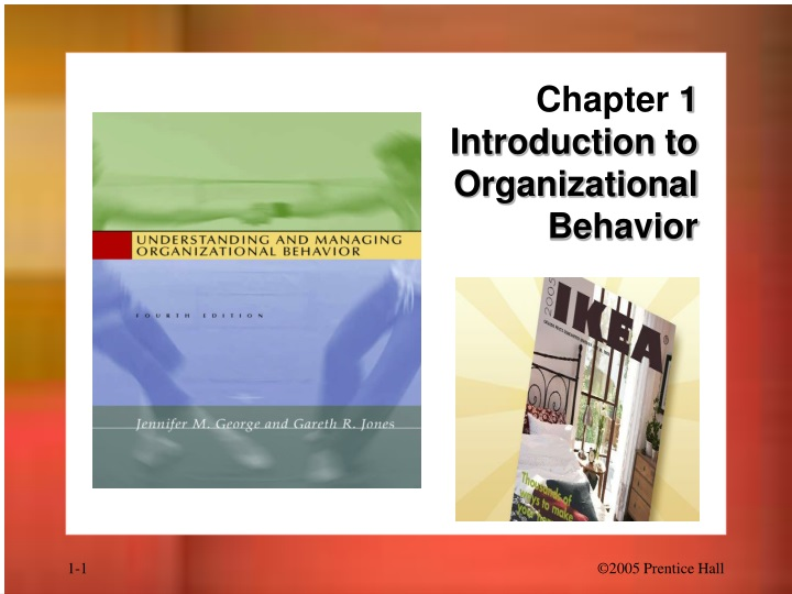 chapter 1 introduction to organizational behavior n.