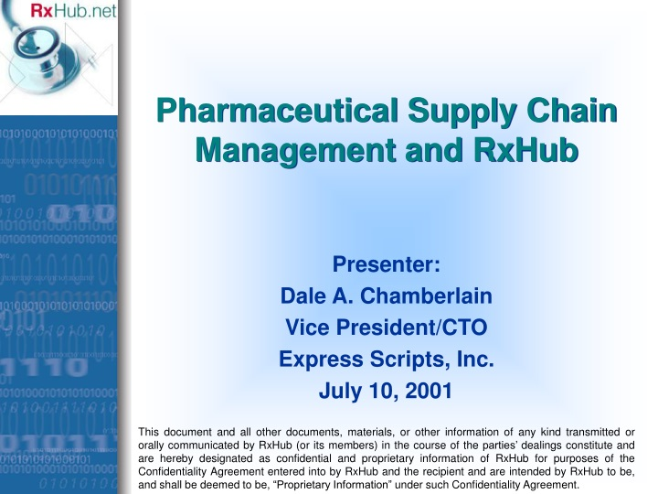 pharmaceutical supply chain management and rxhub n.