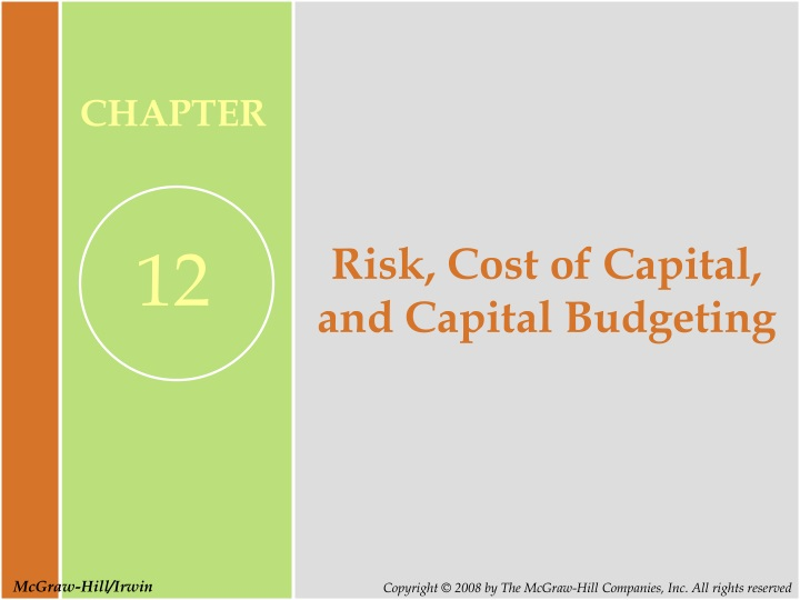 risk cost of capital and capital budgeting n.