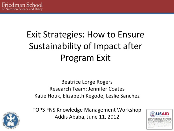 exit strategies how to ensure sustainability of impact after program exit n.