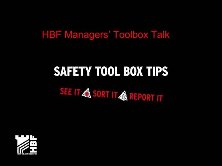 hbf managers toolbox talk n.
