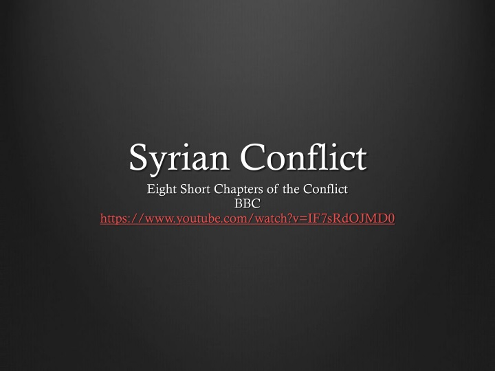 syrian conflict n.
