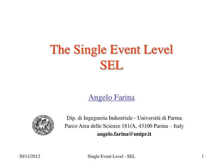 the single event level sel n.