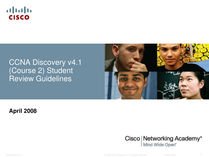ccna discovery v4 1 course 2 student review guidelines n.