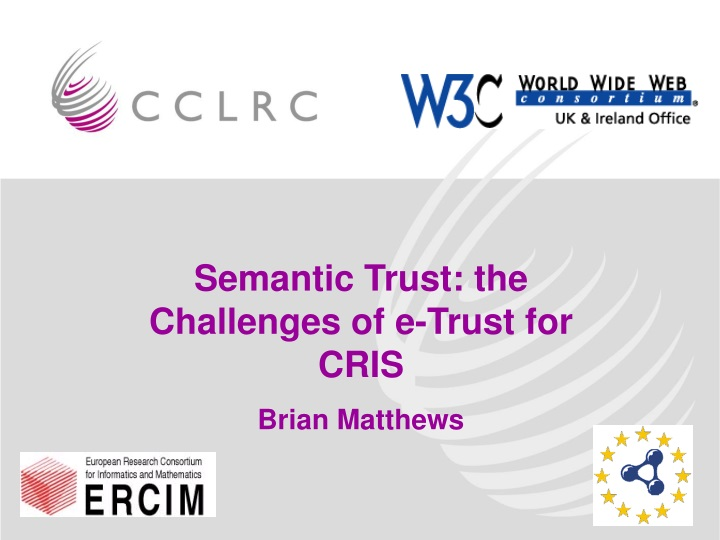 semantic trust the challenges of e trust for cris n.