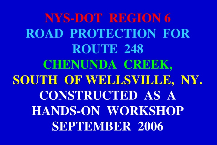 nys dot region 6 road protection for route n.