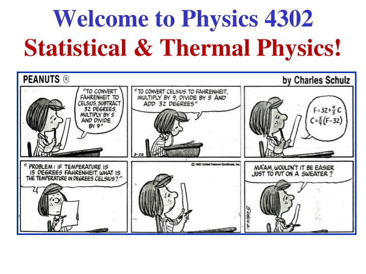 welcome to physics 4302 statistical thermal physics n.