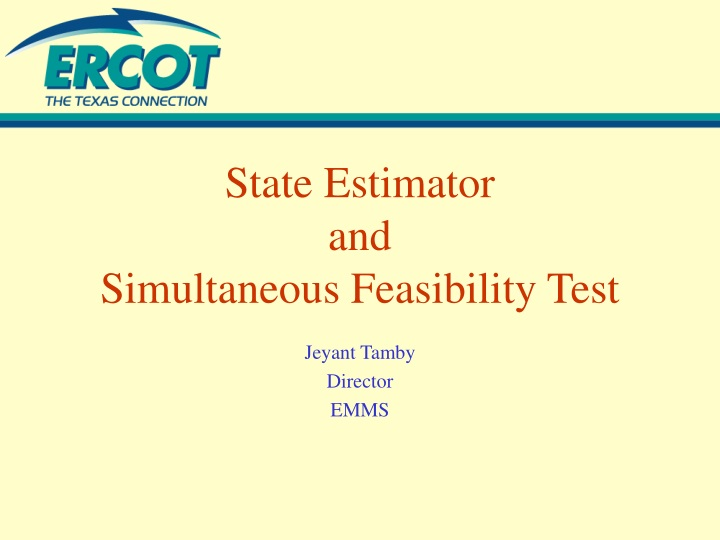 state estimator and simultaneous feasibility test n.