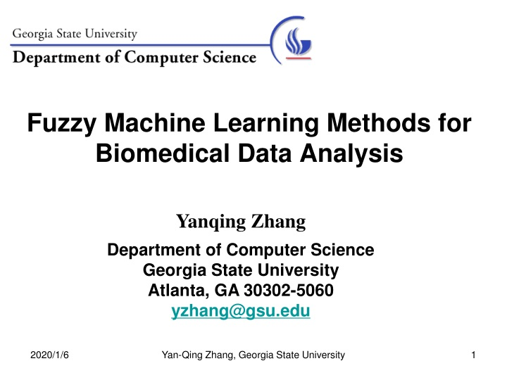fuzzy machine learning methods for biomedical data analysis n.
