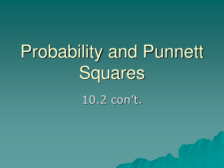 probability and punnett squares n.