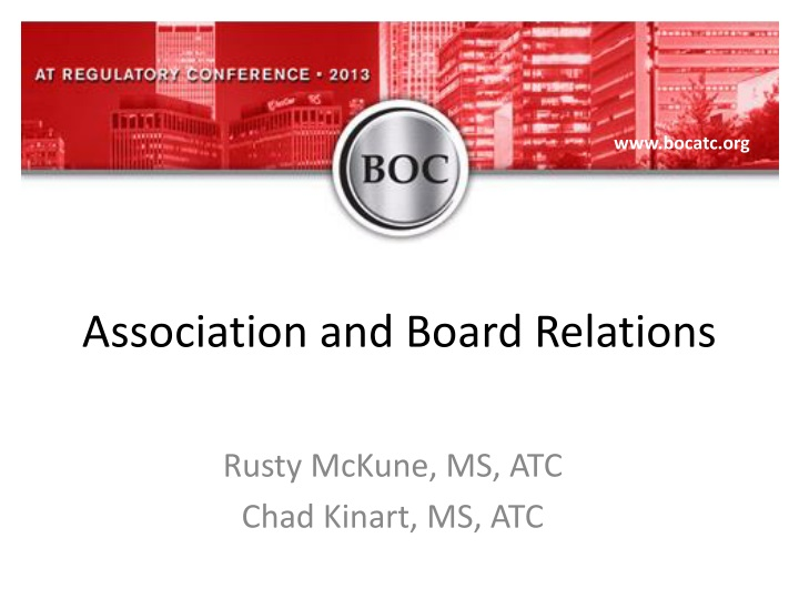 association and board relations n.