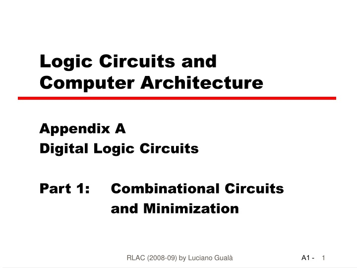logic circuits and computer architecture n.